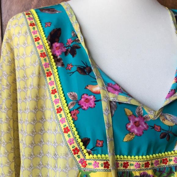 491911f0c0b Ivy Jane Tops | Tunic Top Floral Bird Butterfly Pom Pom | Poshmark